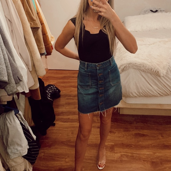 Urban Outfitters Dresses & Skirts - Urban Outfitters High Waisted Jean Skirt